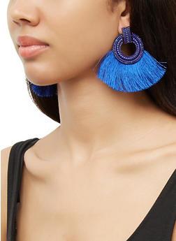 Circle Fan Earrings - 3135071211013