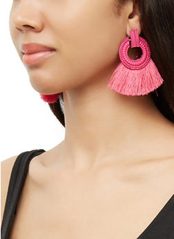 Circle Fan Earrings - 3135071211013