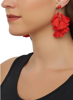 Tassel Drop Earrings - 3135071211033