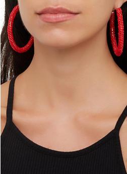 Beaded Hoop Earrings - 3135071219001