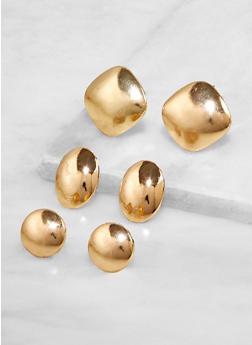 Multi Shape Stud Earrings - 3135071433220