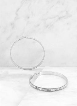 Rhinestone Hoop Earrings | 3135071433311 - 3135071433311