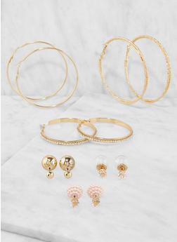 Set of Reversible Stud and Hoop Earrings - 3135072690093