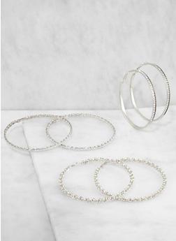 Large Hoop Earring Trio - 3135072690339