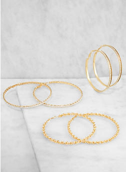 Large Hoop Earring Trio - 3135072690339