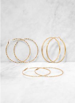 Textured Hoop Earring Trio | 3135072690658 - 3135072690658