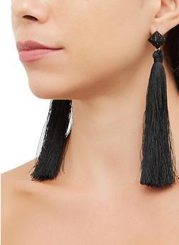 Pyramid Tassel Drop Earrings - 3135072693367
