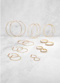 Variegated Hoop Earrings - 3135073841398