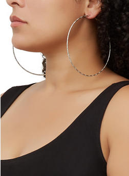 Textured Oversized Hoop Earring Trio | 3135073841500 - 3135073841500