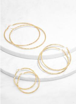 Textured Hoop Earring Trio | 3135073841926 - 3135073841926