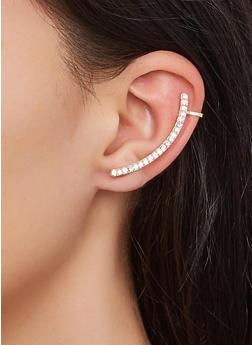Linear Rhinestone Ear Cuffs - 3135073842046