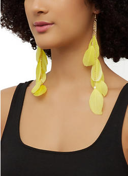Feather Drop Earrings | 3135073846322 - 3135073846322