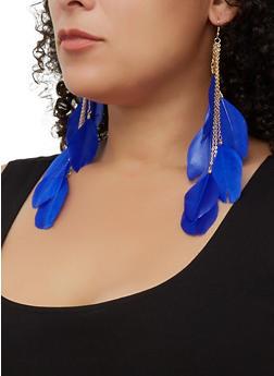 Feather Drop Earrings | 3135073846322 - 3135073846322