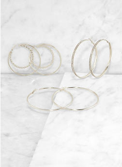 Double Hoop Earring Trio | 3135073847738 - 3135073847738
