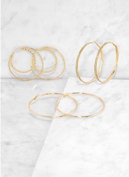 Double Hoop Earring Trio | 3135073847738 - 3135073847738