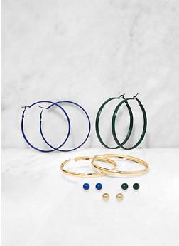 Painted Hoop and Stud Earrings | 3135073848037 - 3135073848037