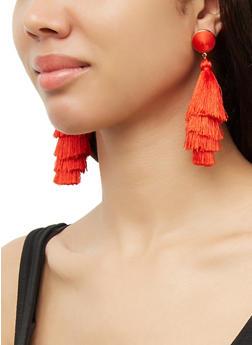 Multi Layer Tassel Earrings - 3135073848989