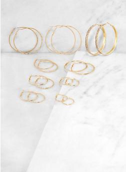 9 Variegated Hoop Earrings - 3135073849138