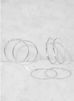 Large Hoop Earring Trio - 3135073849799