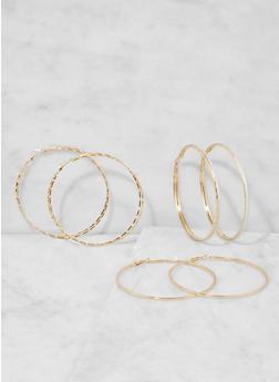 Large Hoop Earring Trio - 3135073849799