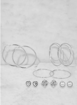 Assorted Stud and Hoop Earrings Set - 3135073849803