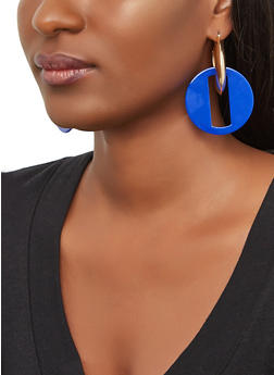 Double Link Drop Hoop Earrings - 3135074141976