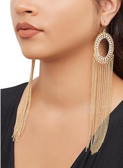 Chain Fringe Chandelier Earrings - 3135074170193
