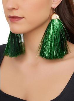 Metallic Fringe Earrings - 3135074171157