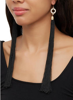 Long Tassel Drop Earrings - 3135074171331