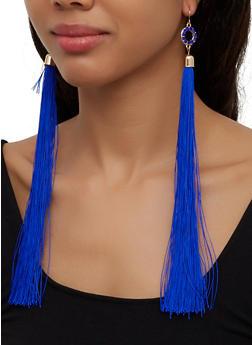 Long Tassel Drop Earrings - 3135074171331