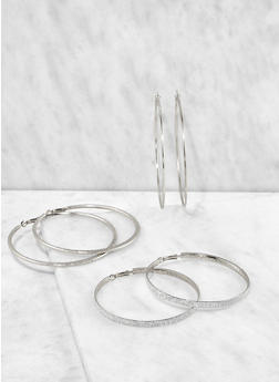 Assorted Hoop Earring Trio - 3135074171715