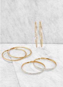Assorted Hoop Earring Trio - 3135074171715