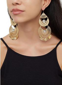 Coin Chandelier Earrings - 3135074173138