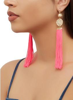 Disc Tassel Earrings - 3135074372303