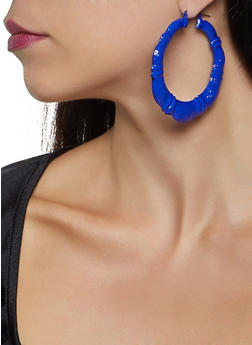 Painted Bamboo Earrings - 3135074374900