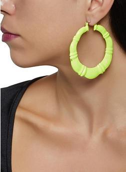 Painted Bamboo Earrings - 3135074374900