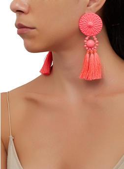 Painted Tassel Earrings - 3135074375253