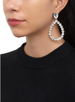Teardrop Rhinestone Earrings - 3135074379950