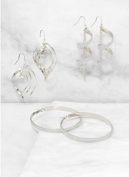 Textured Earring Trio - 3135074980199