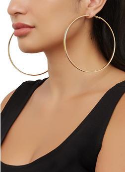 Oversized Trio of Glitter Hoop Earrings - 3135074983398