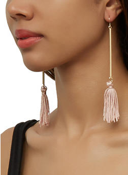 Stick Tassel Earring Trio - 3135074988766