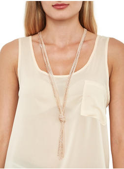 Long Layered Knot Necklace - 3138018432268