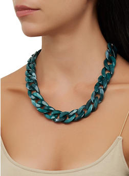 Plastic Chain Necklace - 3138057693468