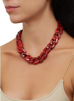 Plastic Chain Necklace - 3138057693468