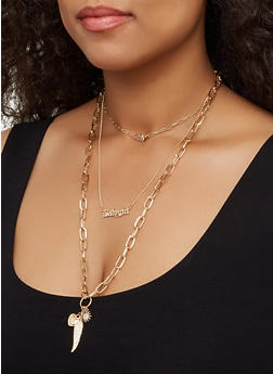 Babygirl Charm Layered Necklace - 3138062813527