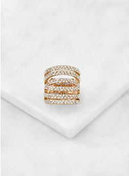 Rhinestone Stretch Ring - 3138062817087