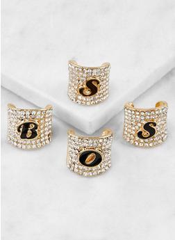 Rhinestone Boss Rings - 3138062920132