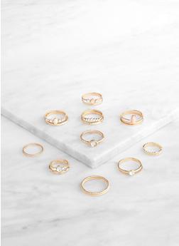 Assorted Metallic Rings - 3138062920346