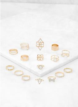 Assorted Metallic Rings Set   3138062924156 - 3138062924156