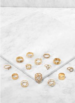 Set of Assorted Metallic Rings - 3138062926514